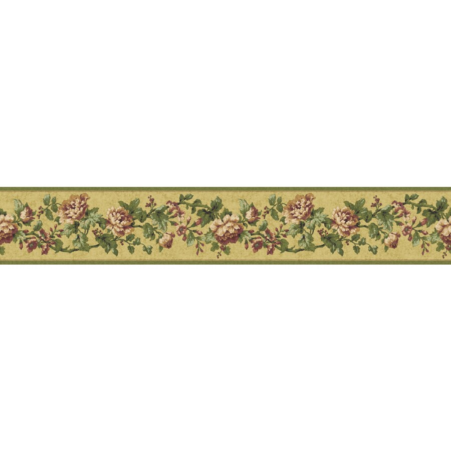 Shop sunworthy 4 1 8 floral document prepasted wallpaper for Wallpaper lowe s home improvement