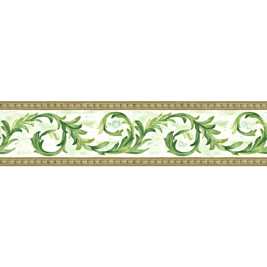 Shop sunworthy 5 1 8 architectural scroll prepasted for Wallpaper lowe s home improvement