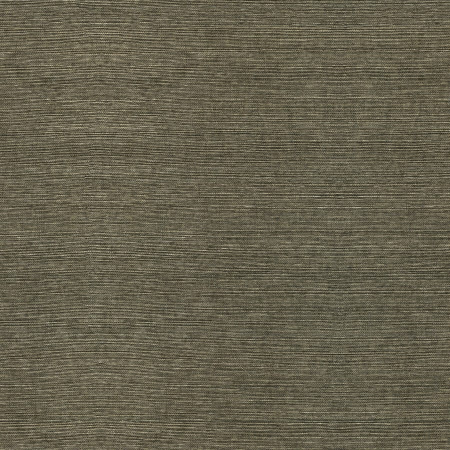 shop allen roth black grasscloth unpasted textured
