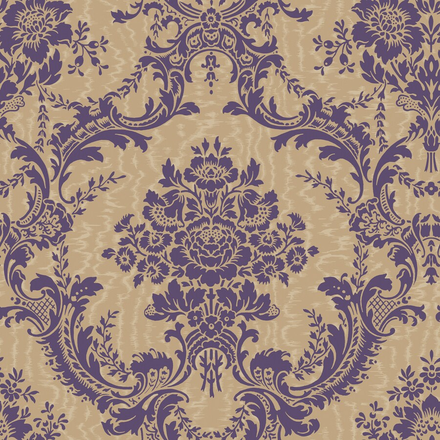 Shop Allen + Roth Purple And Gold Strippable Non-Woven