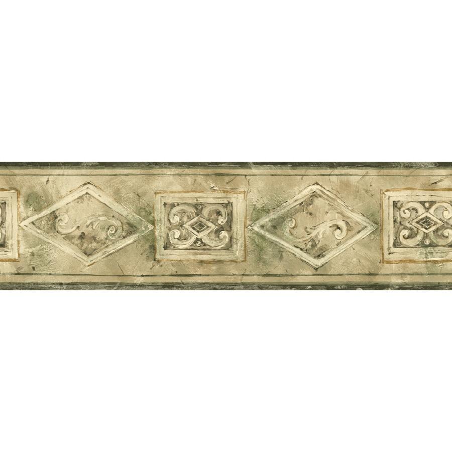 Shop sanitas 5 1 8 emblem prepasted wallpaper border at for Wallpaper lowe s home improvement