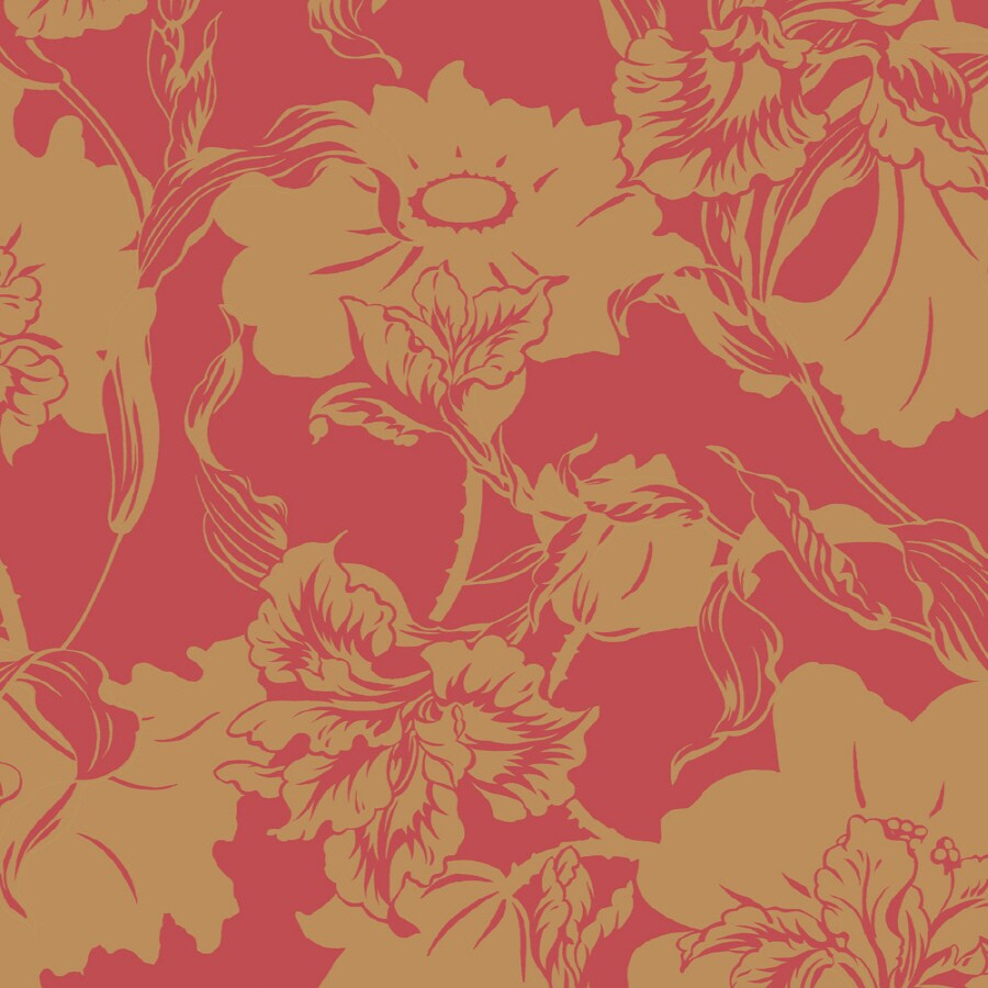 Shop shand kydd red strippable prepasted classic wallpaper for Prepasted wallpaper