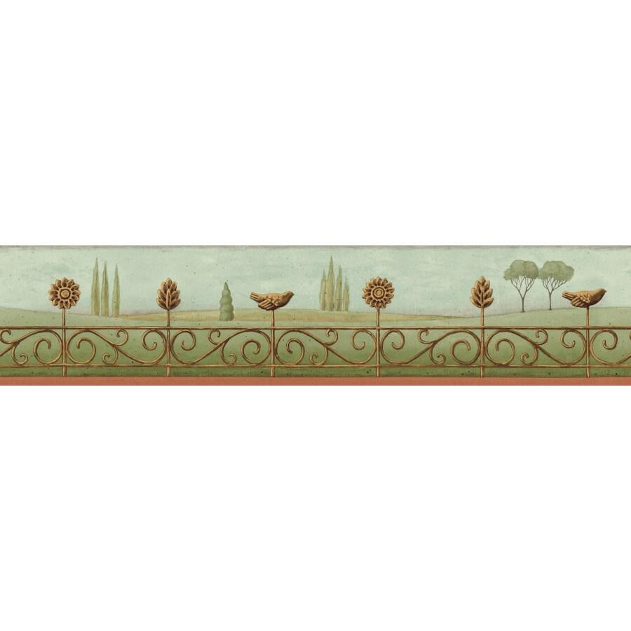 Shop imperial 4 landscape prepasted wallpaper border at for Prepasted wallpaper