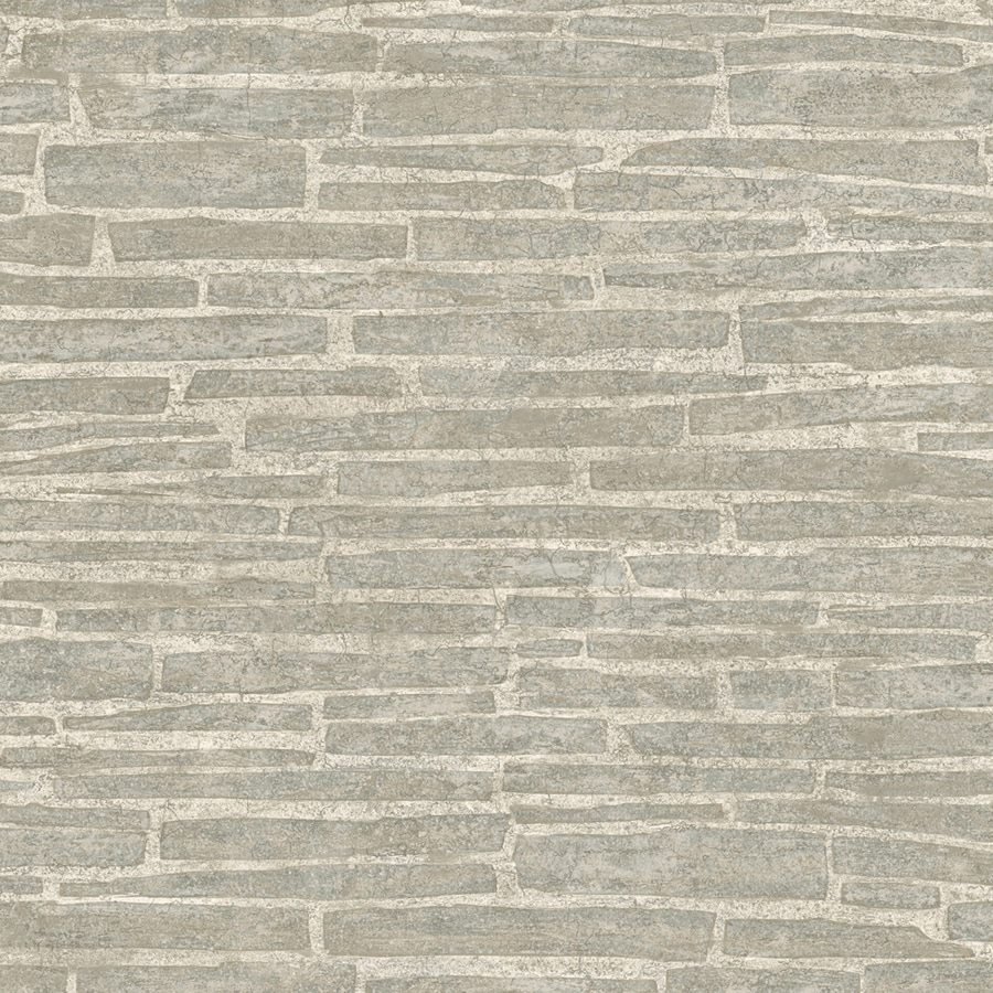 Shop allen roth gray peelable vinyl prepasted textured for Gray vinyl wallpaper