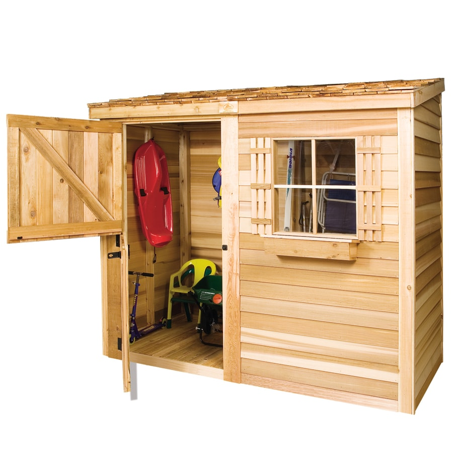 Cedarshed Bayside Gable Cedar Storage Shed (Common: 8-ft x 3-ft; Interior Dimensions: 7.75-ft x 2.45-ft)