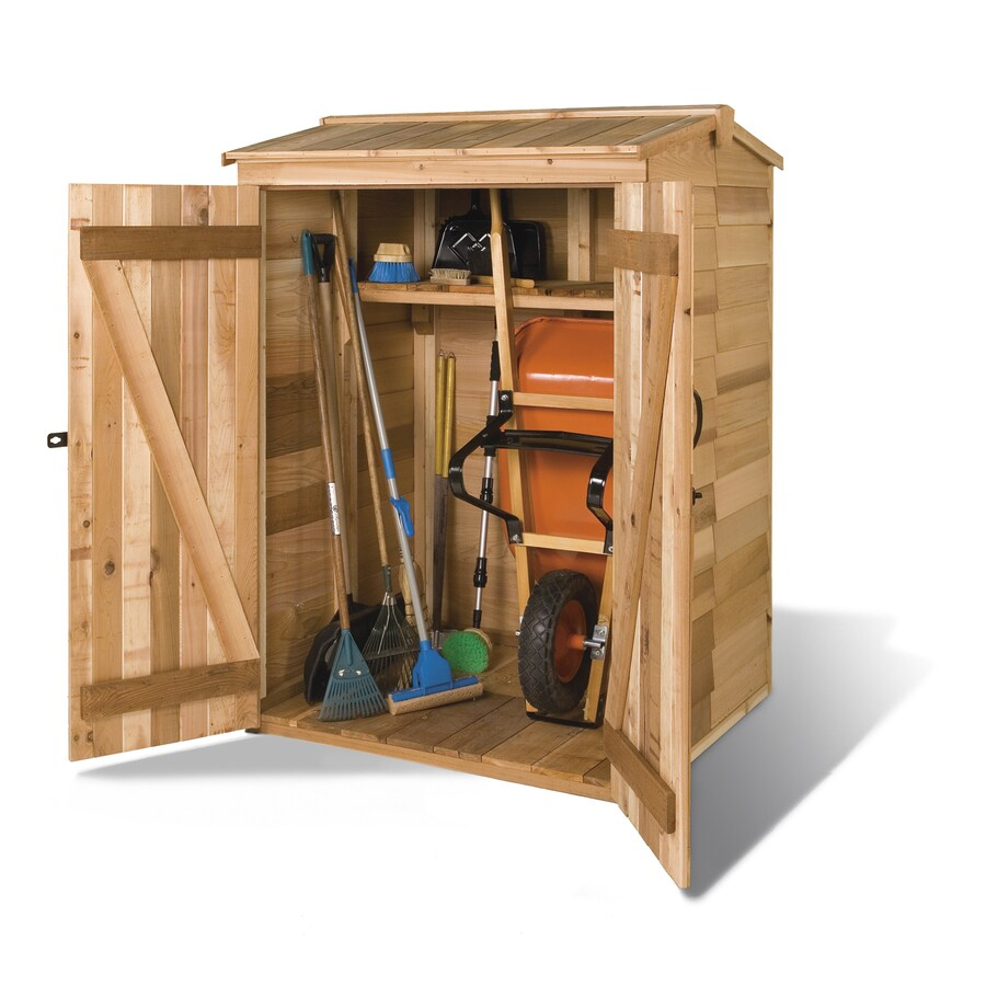 Shop cedarshed greenpod gable cedar storage shed common for Garden shed 5 x 4