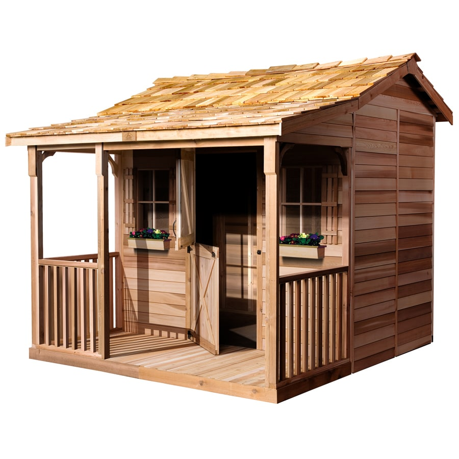 Shop Cedarshed Bunkhouse Gable Cedar Storage Shed (Common