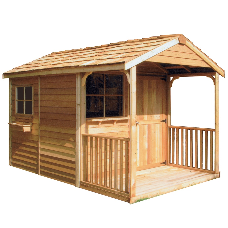 Cedarshed Clubhouse Gable Cedar Storage Shed (Common: 8-ft x 16-ft; Interior Dimensions: 7.33-ft x 15.5-ft)