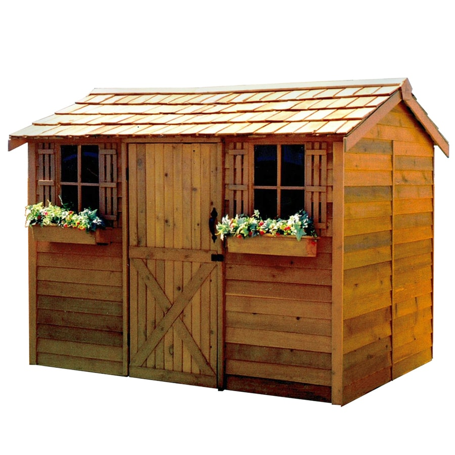 shop cedarshed cabana gable cedar storage shed common 9