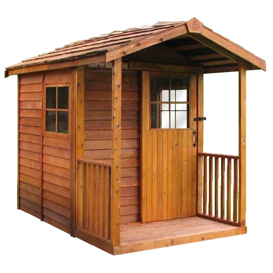 Cedarshed Gardener's Delight Gable Cedar Storage Shed (Common: 6-ft x 12-ft; Interior Dimensions: 5.33-ft x 11.5-ft)