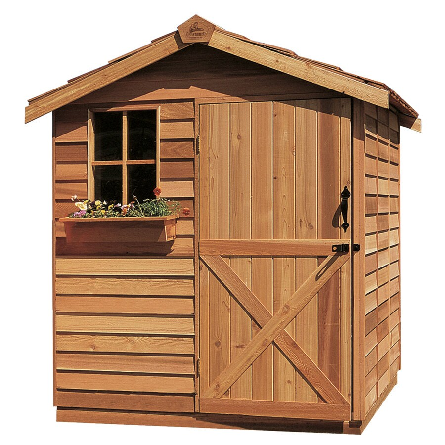 Cedarshed Gardener Gable Cedar Storage Shed (Common: 6-ft x 6-ft; Interior Dimensions: 5.33-ft x 5.75-ft)