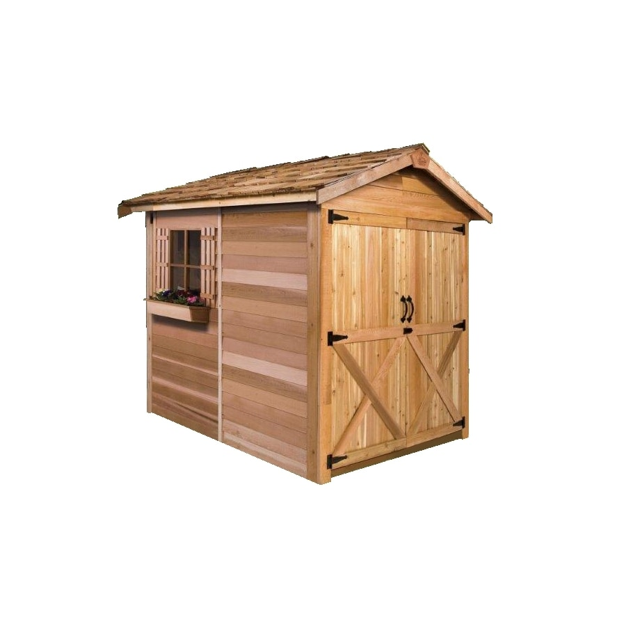 Cedarshed Rancher Gable Cedar Storage Shed (Common: 6-ft x 12-ft; Interior Dimensions: 5.33-ft x 11.5-ft)