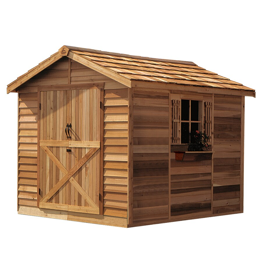 Cedarshed Rancher Gable Cedar Storage Shed (Common: 8-ft x 12-ft; Interior Dimensions: 7.33-ft x 11.62-ft)