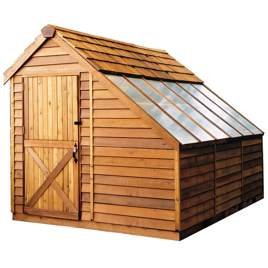 Shop cedarshed sunhouse lean to cedar storage shed common 8 ft x 8 ft interior dimensions 7 - Garden sheds with lean to ...