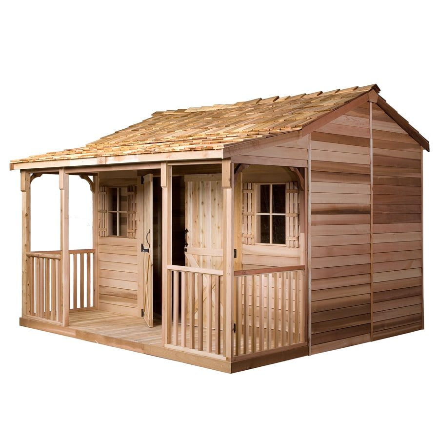 Shop cedarshed ranchhouse gable cedar storage shed common for Garden shed 12x12