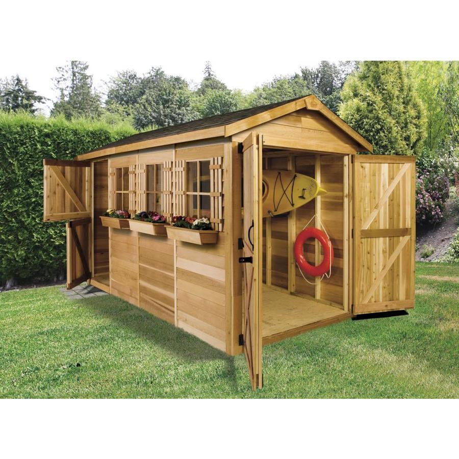 Shop Cedarshed Boathouse Gable Cedar Storage Shed Common