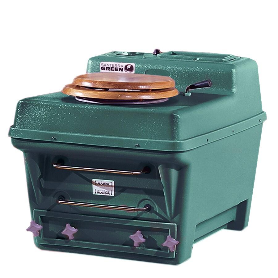 Santerra Green Dark Green 0.8-GPF (3.03-LPF) 4 Rough-In Round Composting Chair Height Rear Outlet Toilet