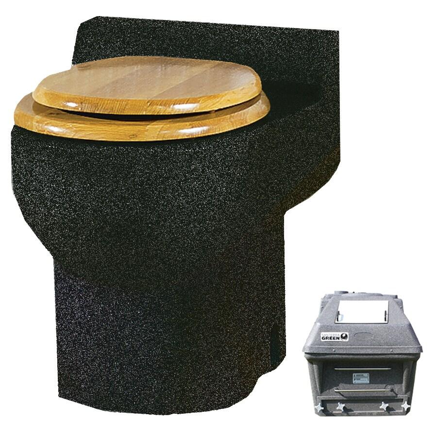 Santerra Green Charcoal Granite 0.8-GPF (3.03-LPF) 4 Rough-In Round Composting Standard Height Toilet