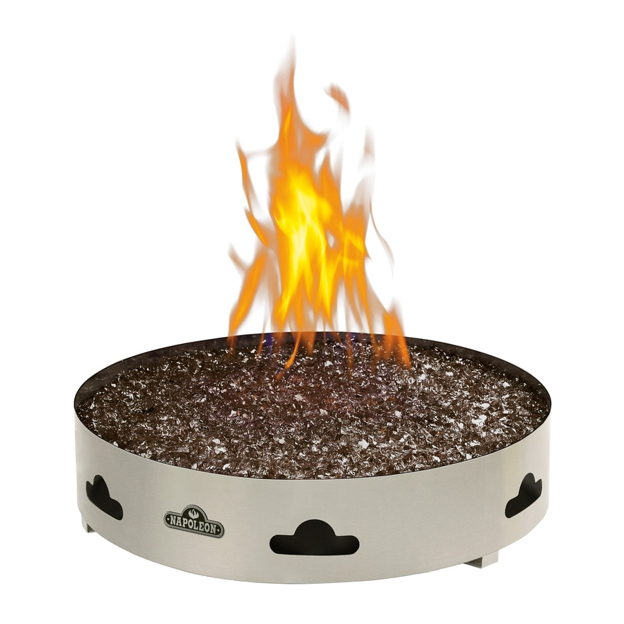 20-in W 60,000-BTU Stainless Steel Natural Gas Fire Pit