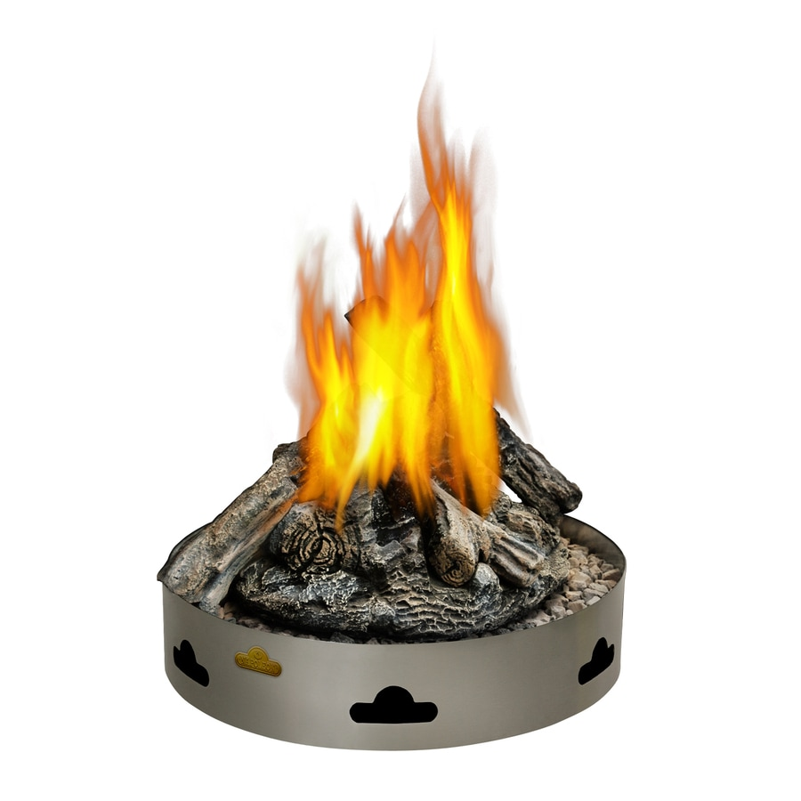Shop 20-in W 60,000-BTU Stainless Steel Propane Gas Fire Pit at Lowes.com