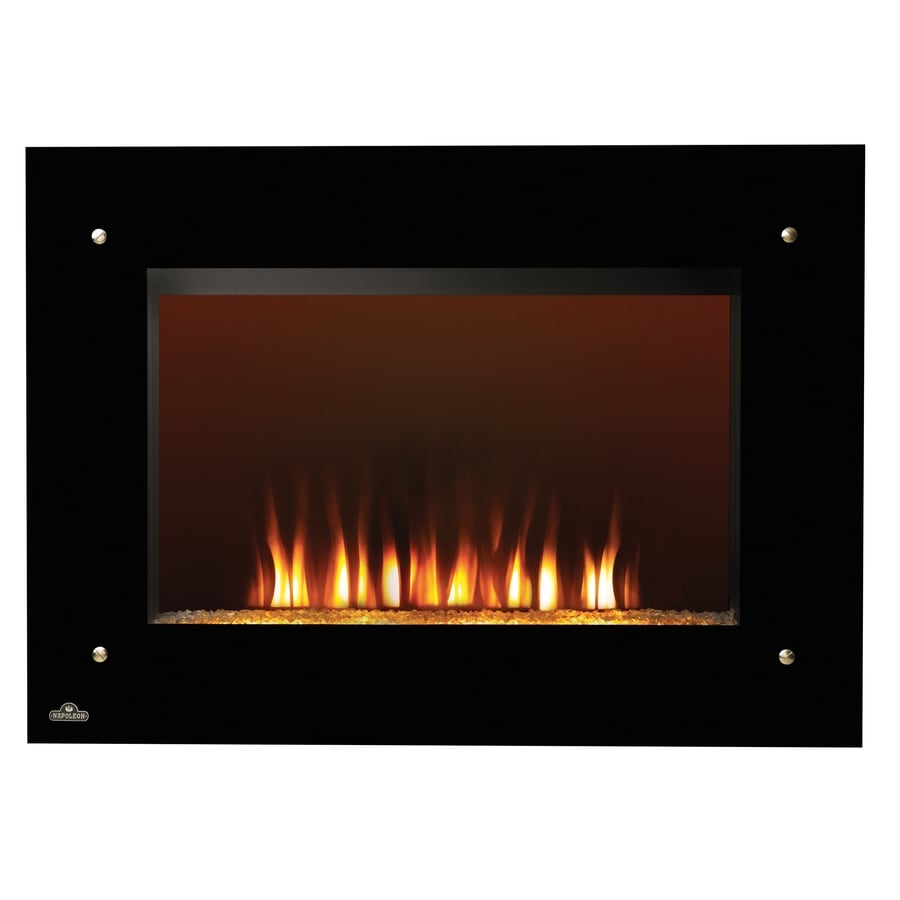 Napoleon Products 39.25-in W 5,000-BTU Black Metal Wall-Mount Fan-Forced Electric Fireplace with Remote Control