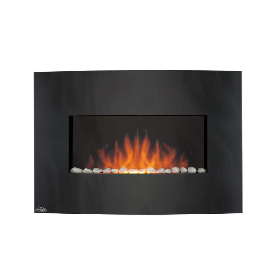 Shop 32 5 In Black Wall Mount Electric Fireplace At