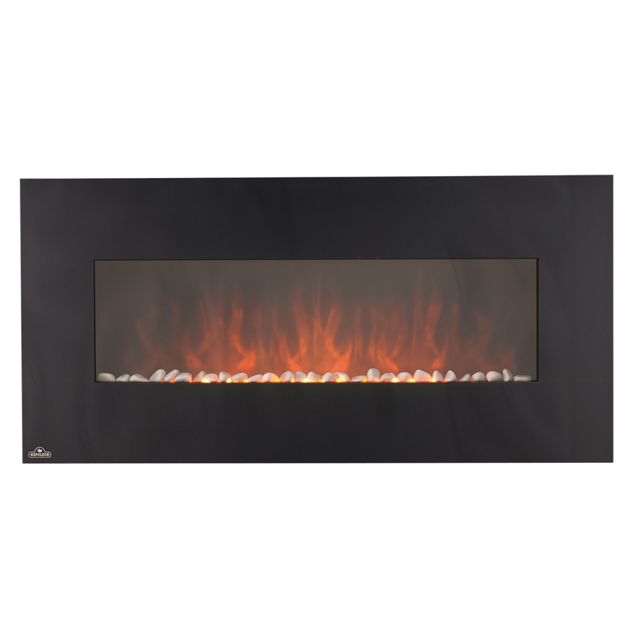Shop 48 In Black Wall Mount Electric Fireplace At