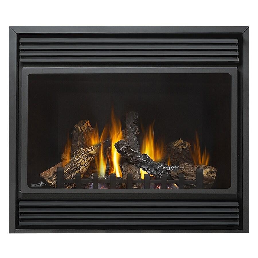 36-in Direct Vent Black Corner Liquid Propane Gas Fireplace