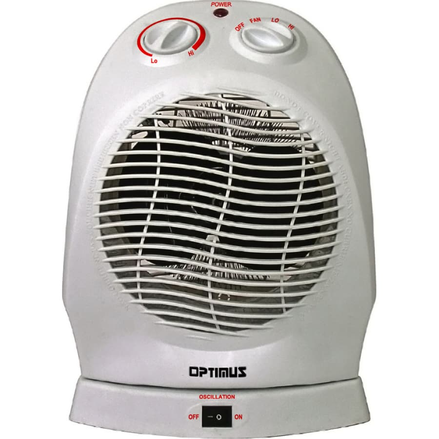 Optimus Convection Compact Electric Space Heater with Thermostat
