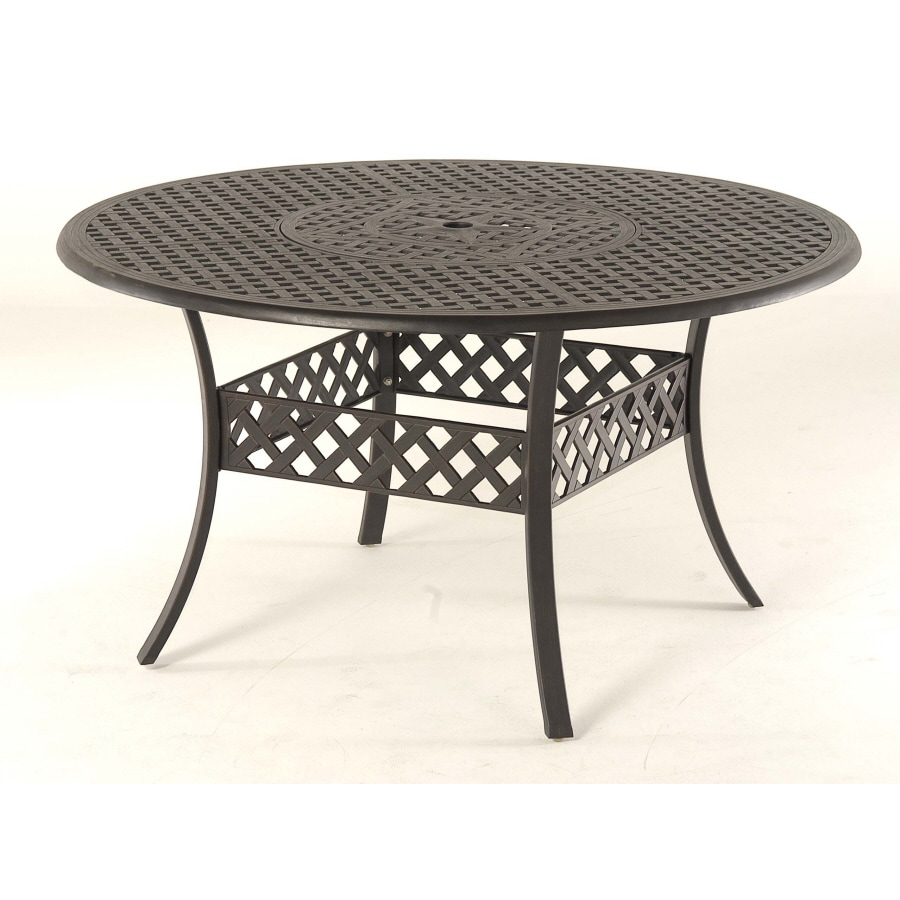 """Garden Treasures Black Canyon 54"""" Extruded Aluminum Round Patio Dining Table"""