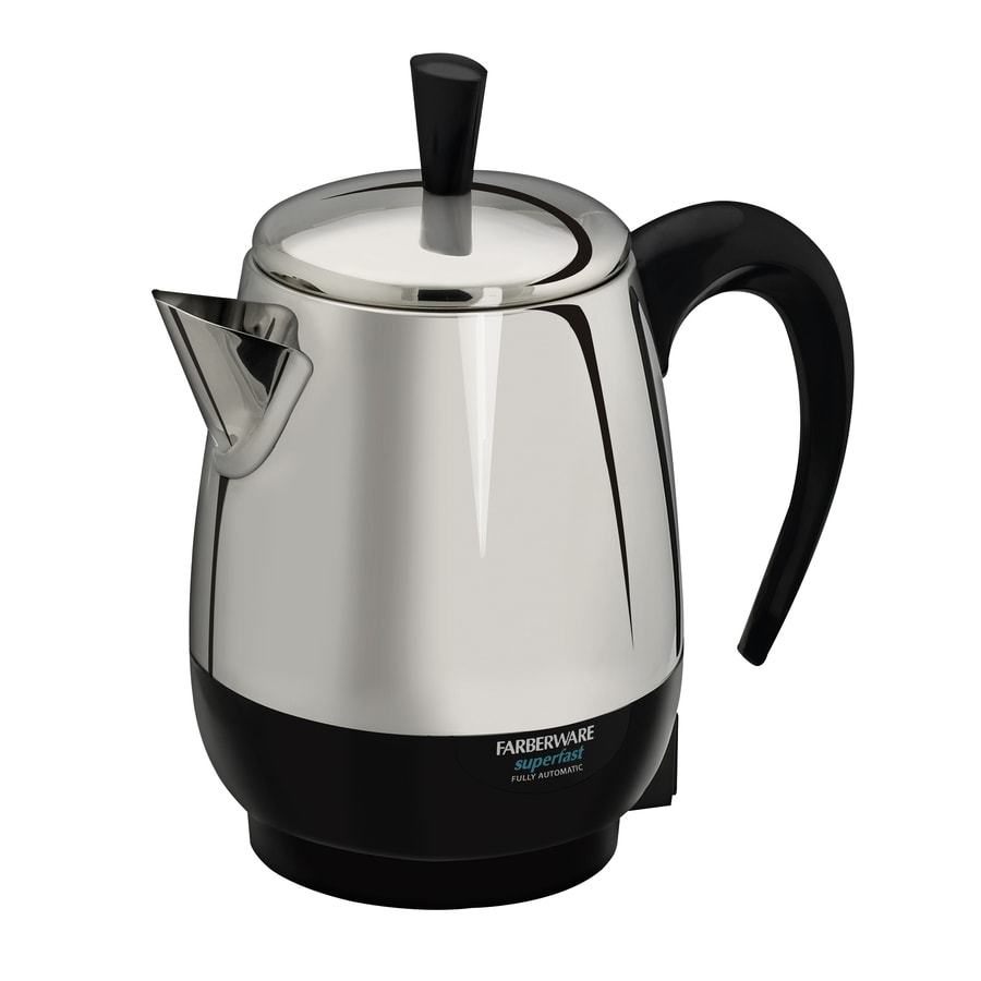 Coffee Maker With Percolator : Shop Farberware Black/Silver 4-Cup Percolator at Lowes.com