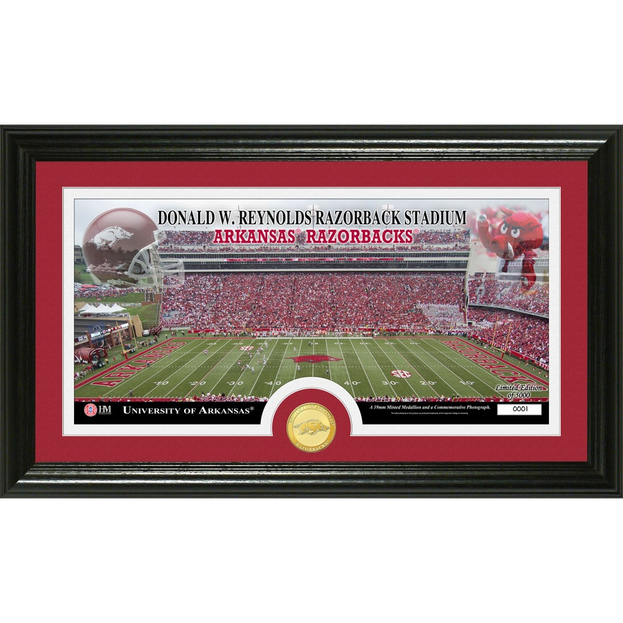 The Highland Mint 20-in W x 12-in H University Of Arkansas Stadium Bronze Coin Panoramic Photo Mint Limited Editions
