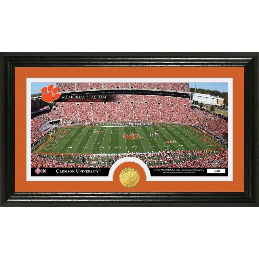 The Highland Mint 20-in W x 12-in H Clemson University Stadium Bronze Coin Panoramic Photo Mint Limited Editions