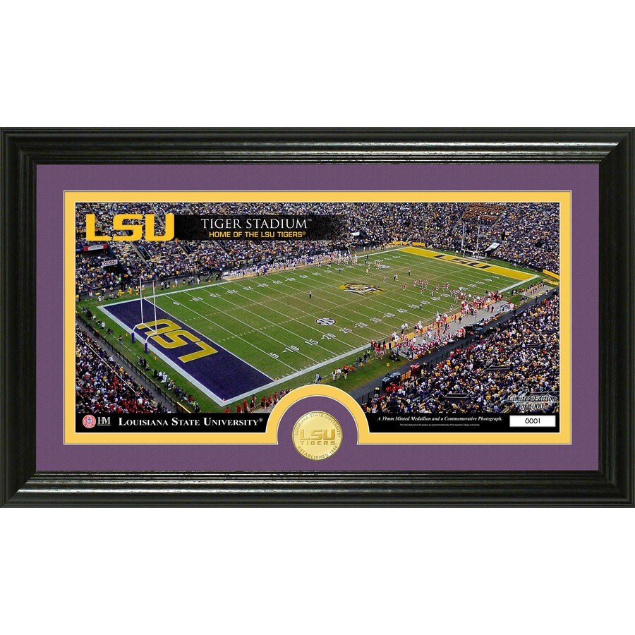 The Highland Mint 20-in W x 12-in H Louisiana State University Stadium Bronze Coin Panoramic Photo Mint Limited Editions