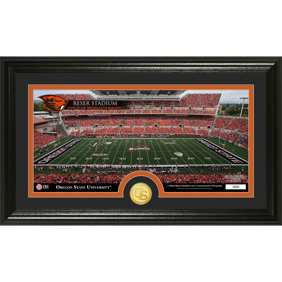 The Highland Mint 20-in W x 12-in H Oregon State University Stadium Bronze Coin Panoramic Photo Mint Limited Editions