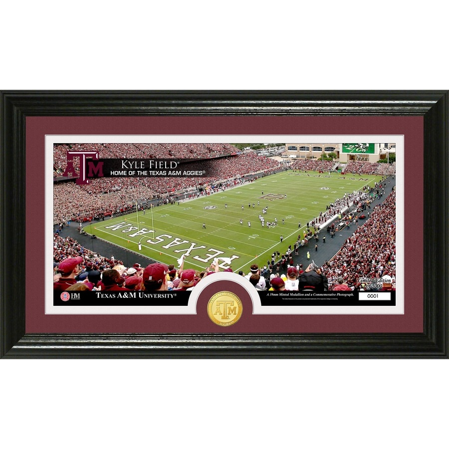 The Highland Mint 20-in W x 12-in H Texas A&M University Stadium Bronze Coin Panoramic Photo Mint Limited Editions