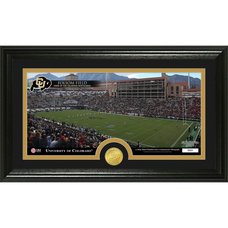 The Highland Mint 20-in W x 12-in H University Of Colorado Stadium Bronze Coin Panoramic Photo Mint Limited Editions