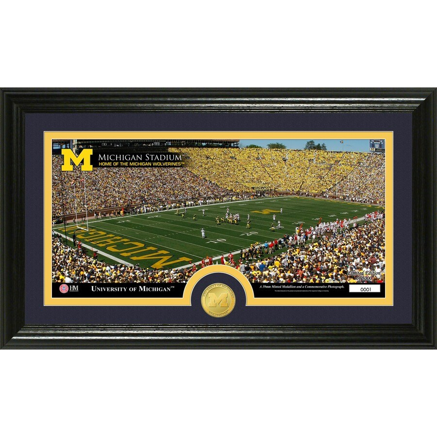 The Highland Mint 20-in W x 12-in H University Of Michigan Stadium Bronze Coin Panoramic Photo Mint Limited Editions
