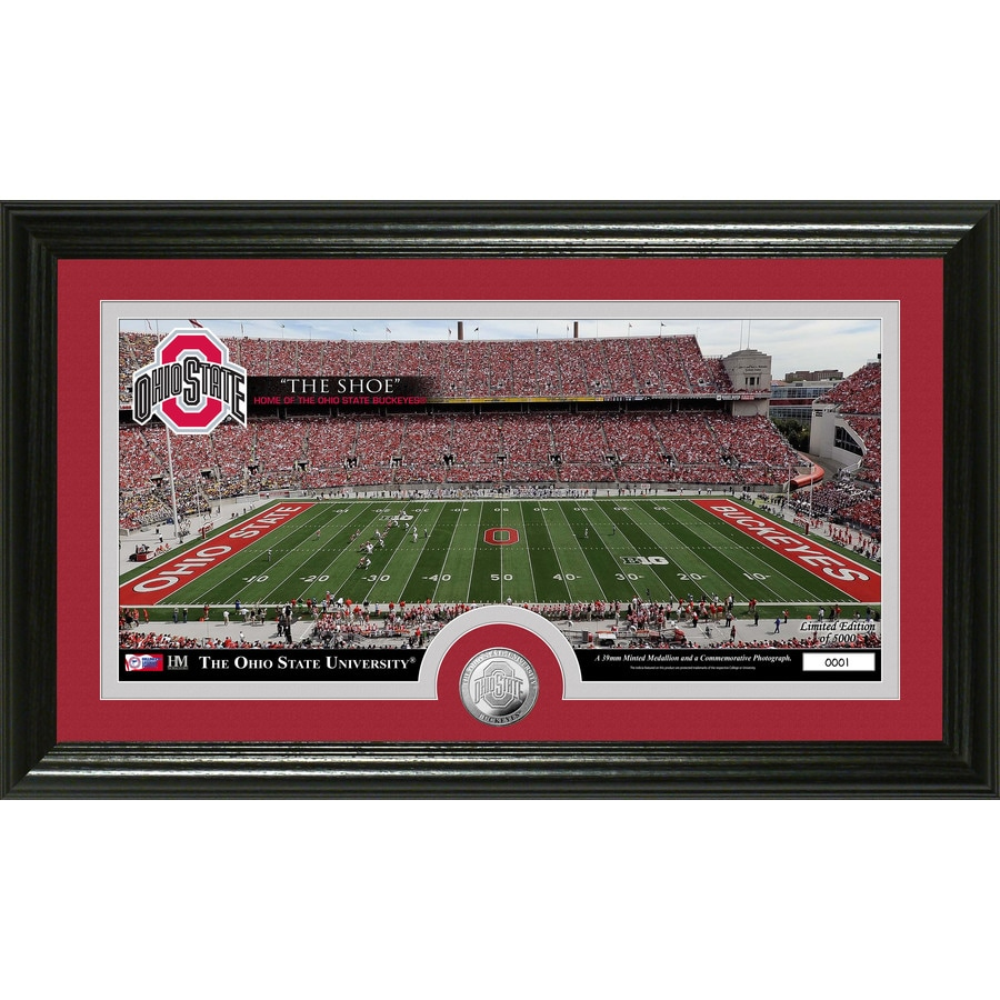 The Highland Mint 20-in W x 12-in H Ohio State University Stadium Minted Coin Panoramic Photo Mint Limited Editions