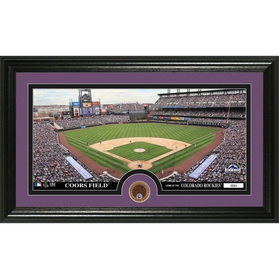 The Highland Mint 20-in W x 12-in H Colorado Rockies Infield Dirt Coin Panoramic Photo Mint Limited Editions