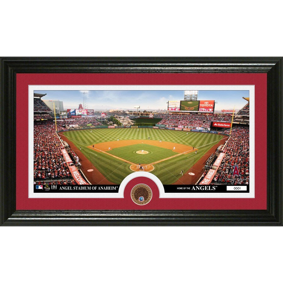 The Highland Mint 20-in W x 12-in H Los Angeles Angels Infield Dirt Coin Panoramic Photo Mint Limited Editions