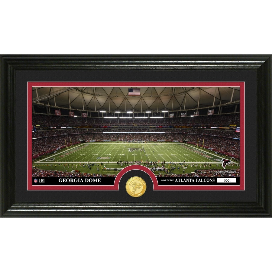 The Highland Mint 20-in W x 12-in H Atlanta Falcons Stadium Bronze Coin Panoramic Photo Mint Limited Editions