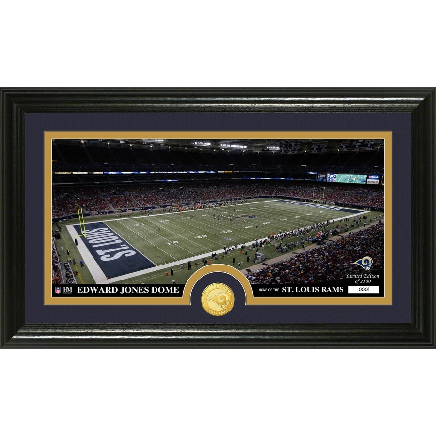 The Highland Mint 20-in W x 12-in H St Louis Rams Stadium Bronze Coin Panoramic Photo Mint Limited Editions