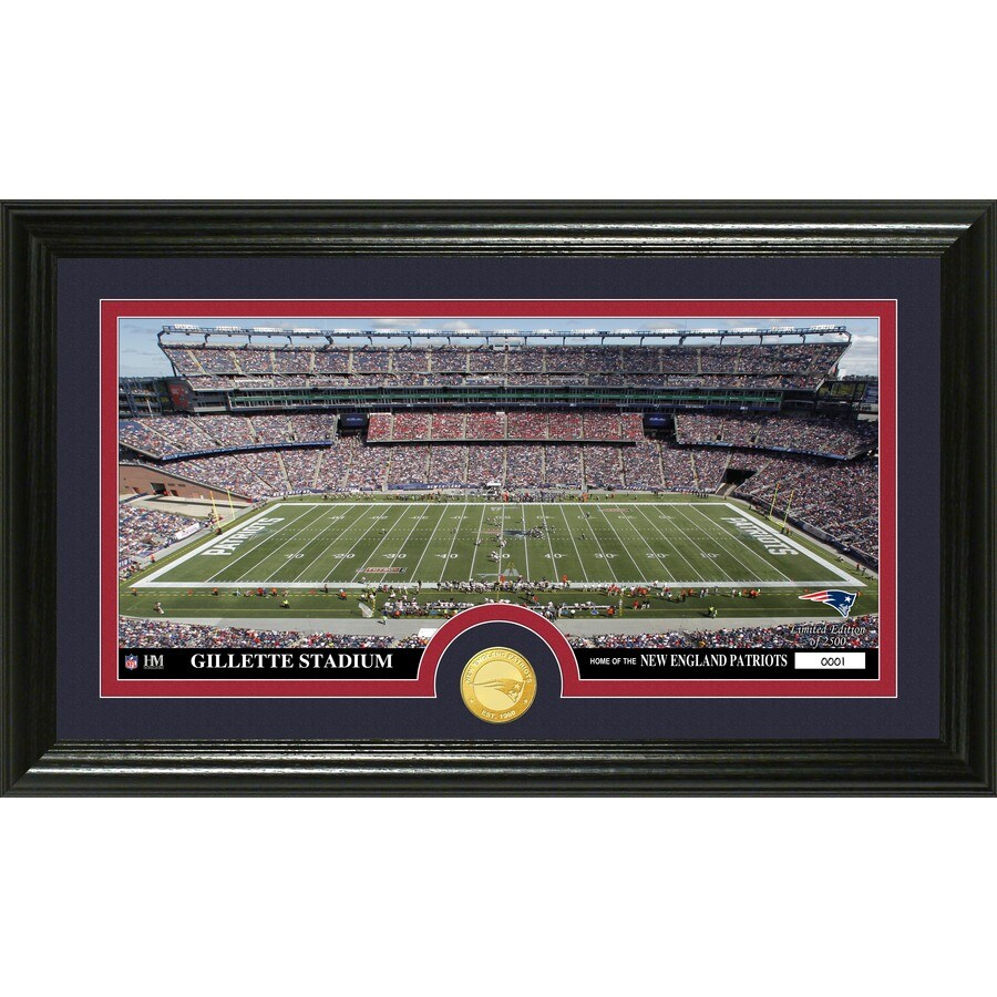 The Highland Mint 20-in W x 12-in H New England Patriots Stadium Bronze Coin Panoramic Photo Mint Limited Editions