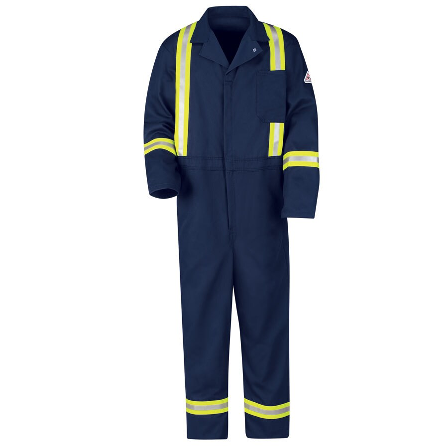 Bulwark 50 Men's Navy Long Coveralls