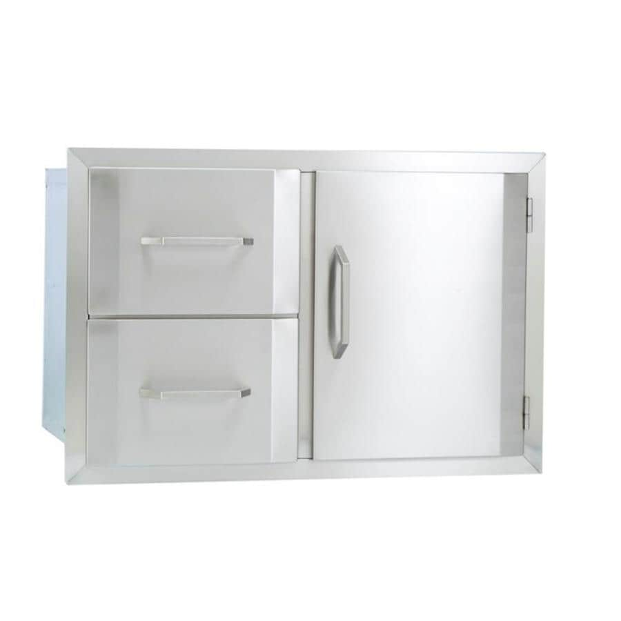Bullet Built-In Grill Cabinet Single Door and Double Drawer Combination
