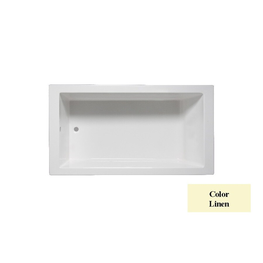 Laurel Mountain Parker 6 Linen Acrylic Rectangular Drop-in Bathtub with Reversible Drain (Common: 36-in x 66-in; Actual: 24-in x 36-in x 66-in