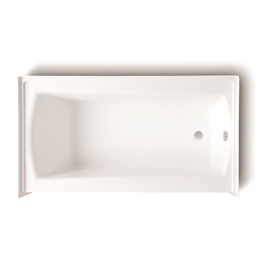 Laurel Mountain Parker 20 White Acrylic Rectangular Skirted Bathtub with Right-Hand Drain (Common: 30-in x 60-in; Actual: 22.75-in x 30-in x 60-in