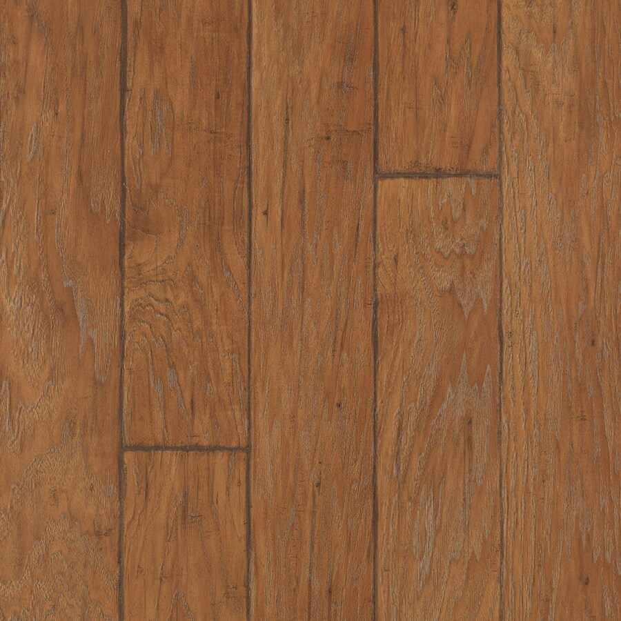 allen + roth Embossed Hickory Wood Planks Sample (Handscraped Canyon Hickory)