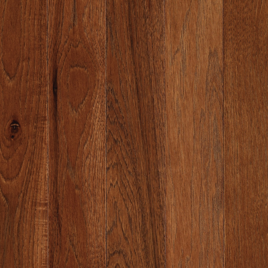Shop mohawk anniston 2 in warm cherry hickory hardwood for Cherry wood flooring